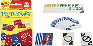 Mattel Phase 10 Card Game, Multi Color & Mattel Pictionary Card Game