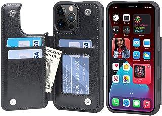 【Amazon限定ブランド】iPhone 13 Pro Max ケース 背面 カードケース - 米軍軍事規格 スマホケース iPhone13promax 手帳型 Arae アイフォン13 プロ マックス 6.7インチ 2021新型 適応用 財布...