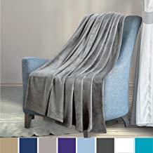 Bedsure Fluffy Blanket Twin/Double Size Silver Grey - Super Soft Flannel Fleece Bedspread Blankets Warm Microfiber Bed Blankets for Sofa and Couch 150x200cm