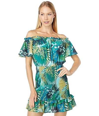 Bebe Off-the-Shoulder Ruffle Dress