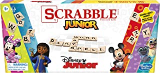 Hasbro Gaming Scrabble Junior: Disney Junior Edition Board Game, Double -Sided Game Board, Matching and Word Game (Amazon ...