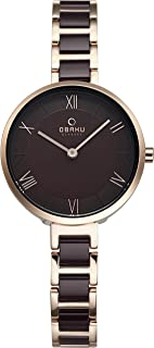 Obaku Women's Brown Dial Stainless Steel Band Watch - V195Lxvnsn, Analog Display, Quartz Movement