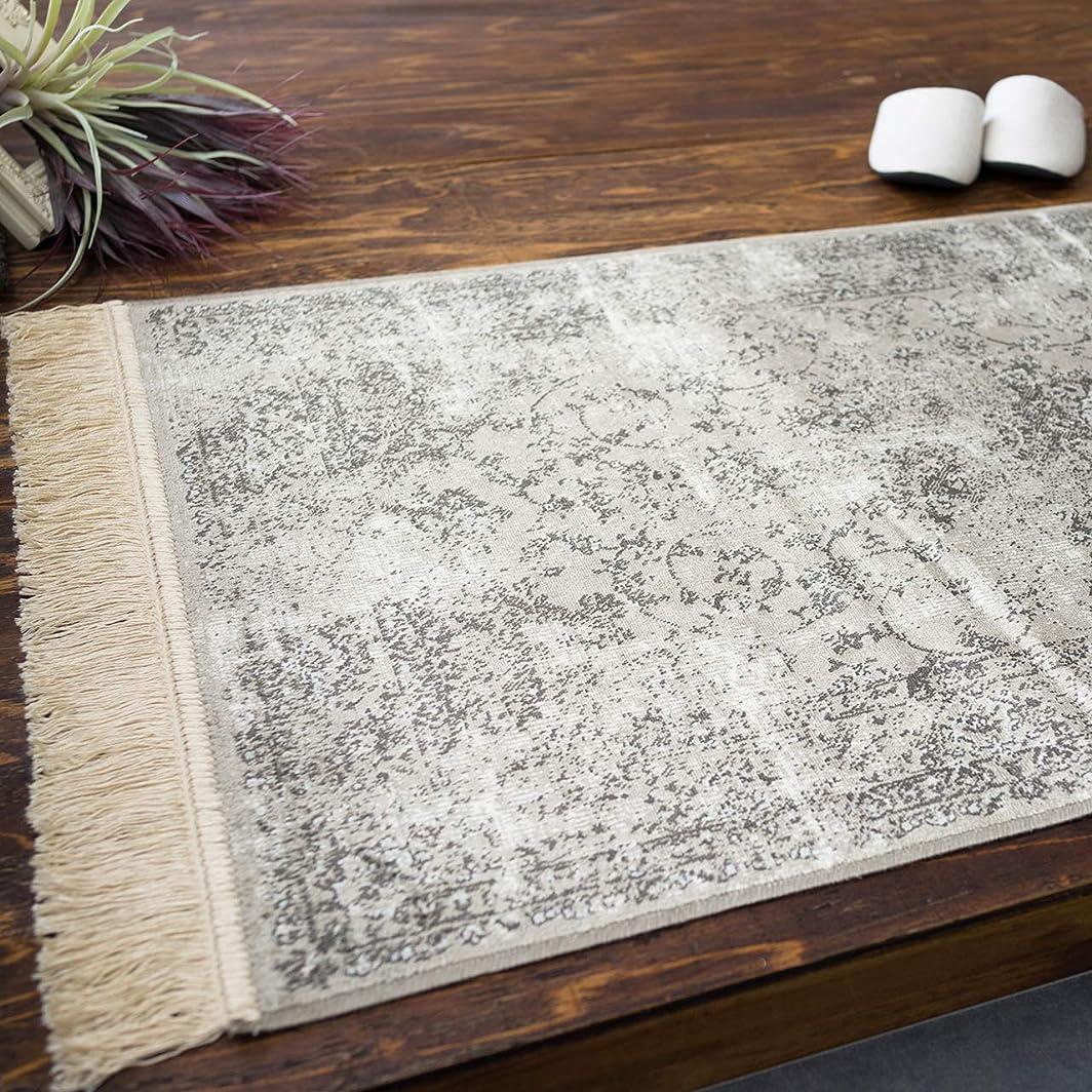 スクリュー注釈を付けるもの[サヤンサヤン] 屋内 室内 用 レトロ デザイン 玄関マット ロイヤルパレス 14748 ブラウン サイズ 約 67х105 cm 折りたたみ 可能 薄型 カーペット