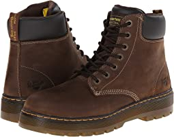 2bfa33ff1c4 Dr martens caite buckle wrap boot dark brown oily illusion