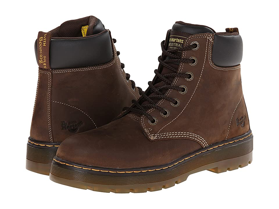 Dr. Martens Work Winch Steel Toe (Dark Brown Wyoming) Men