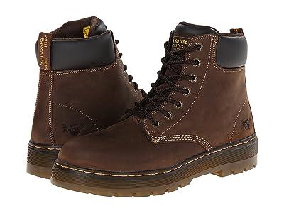 Dr. Martens Work Winch Steel Toe (Dark Brown Wyoming) Men
