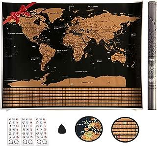 JUJ/® Globo maravillosamente Flotante Levitaci/ón magn/ética Mapa del Mundo Cambio Luces LED Plataforma Negra 88 Constelaciones para Hombres Regalo Decoraci/ón de Escritorio de Oficina en casa B-Segundo