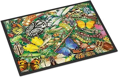Caroline's Treasures Insects & Butterflies Bug World Door Mat doormats, Multicolor
