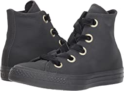 fe34138891ed Converse. Chuck Taylor All Star - Leather Hi.  32.99MSRP   65.00. Almost  Black Almost Black Gold