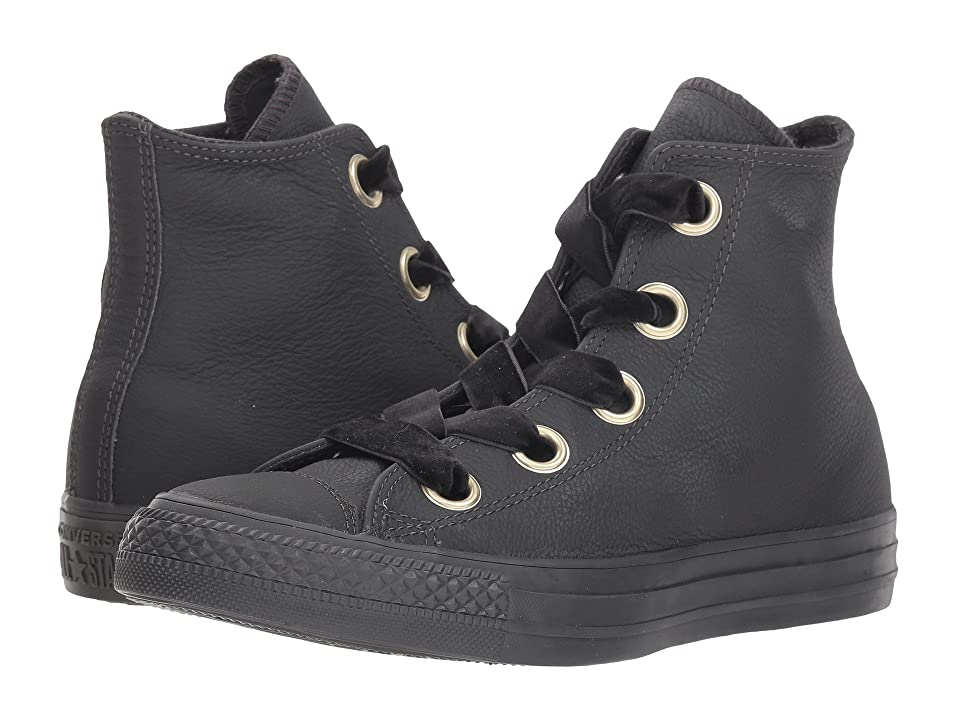 cd0e3aa59bec Converse Chuck Taylor All Star Big Eyelet Leather Hi (Almost Black Almost  Black