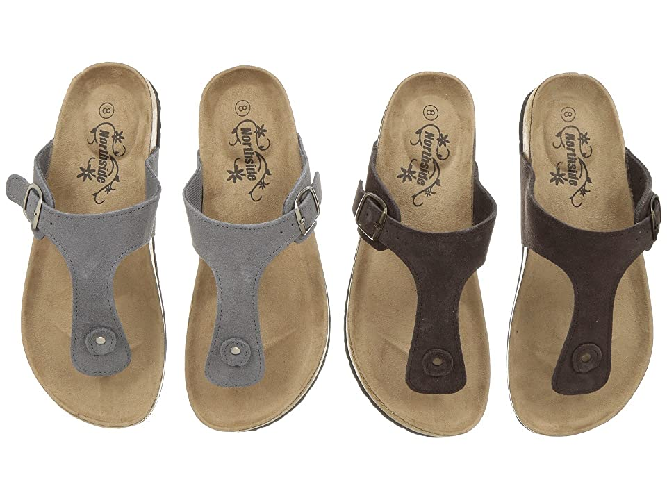 Northside Bindi 2-Pair Pack (Gray/Brown) Women