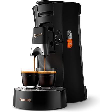 Philips CSA240/61 Machine à Café à Dosettes SENSEO Select Eco, Intensity Plus, Crema Plus, Fonction Memo - Noir