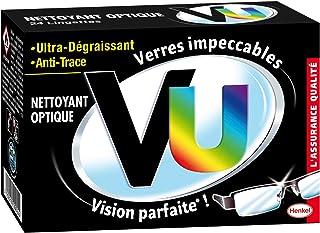 VU Classique Nettoyant optique – Lingettes Nettoyantes Lunettes (24 Lingettes) – Ultra Dégraissant et Anti Trace