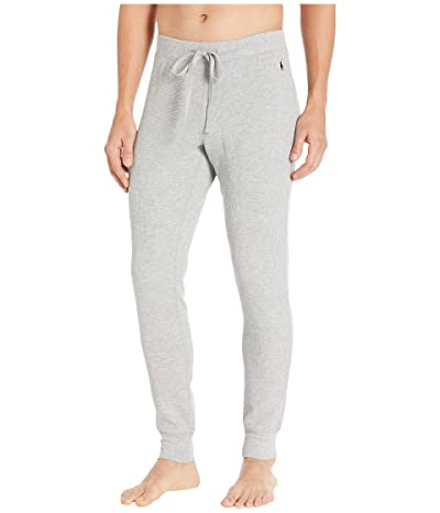 Polo Ralph Lauren Midweight Waffle Solid Jogger Pants (Andover Heather/Cruise Navy Pony Print) Men