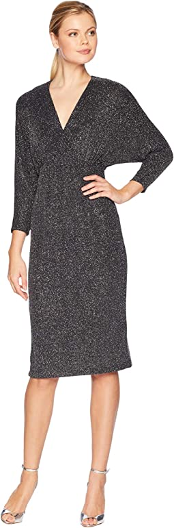 Multi Glitter Dolman Midi Dress
