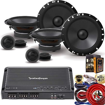 "$295 » Rockford Fosgate R300X4 Prime 400W 4-Channel Amplifier + (4) Alpine S-S65C 6-1/2"" 2 Way Component Speaker + Amp Kit"