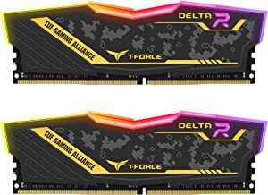 TEAMGROUP T-Force Delta TUF Gaming Alliance RGB DDR4 32GB (2x16GB) 3200MHz (PC4-25600) CL16 Desktop Gaming Memory Ram TF9D...