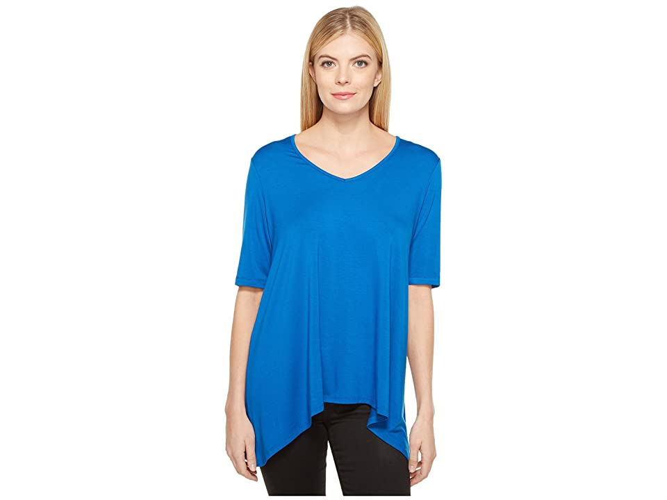 Karen Kane Short Sleeve Swing Top (Cobalt) Women