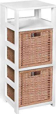 ORE International 2-Level Bookshelf with Doors JW-188