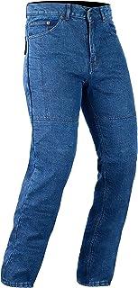 Bikers Gear Australia Men's Motorcycle Protective Kevlar Jeans Blue Denim