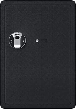 Jolitac Biometric Cabinet Safes for Home, Fingerprint Security Safe Box Fireproof Solid Carbon Steel Locking Safe Case for Gu