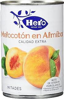 Hero - Melocotón En Almibar - Conserva de frutas - 480 g - [Pack de 12]