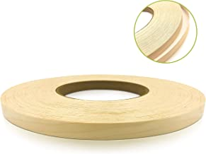 """Birch 1/2"""" X 250' Roll Preglued, Wood Veneer Edge Banding, Iron on with Hot Melt Adhesive, Flexible Wood Tape Sanded to Pe..."""