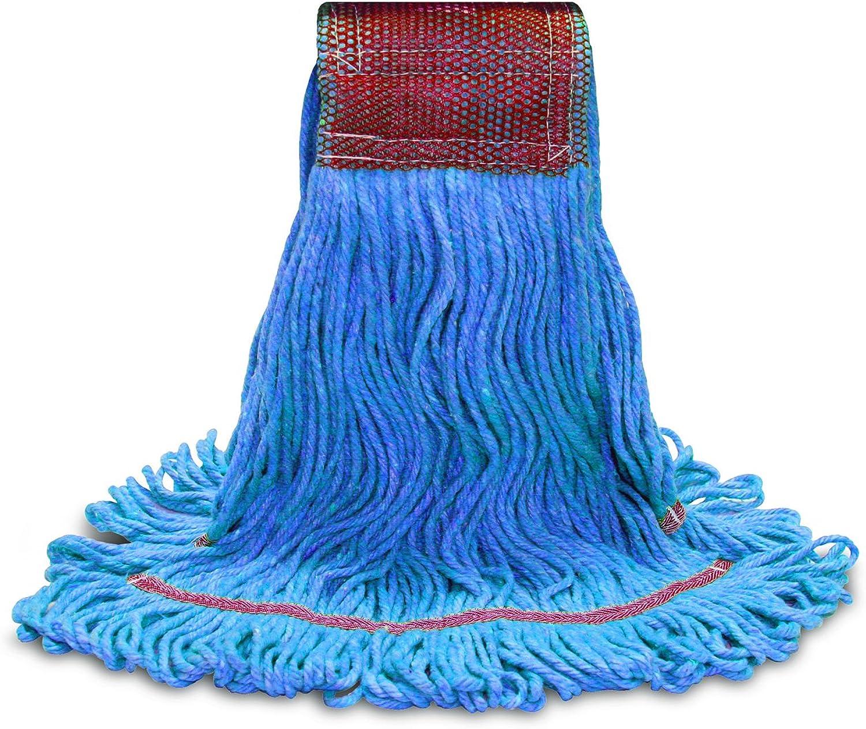 O'Cedar Commercial 97293 MaxiClean Shrinkless Loop-End Mop, Large, bluee (Pack of 12)