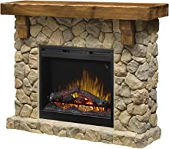 DIMPLEX GDS26L5-904ST Pine and Stone-Look Mantel Fieldstone Electric Fireplace