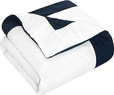 Chic Home Hotel Collection con sábanas, Tradicional, Marino, King Comforter, 1, 10