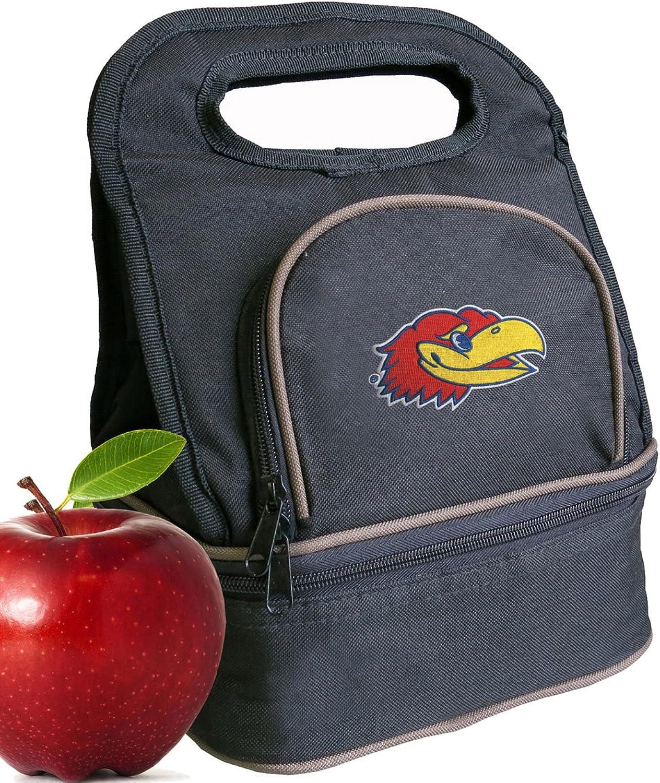 University of Kansas Lunch Bag Kansas Jayhawks Lunch Box  2 Sections