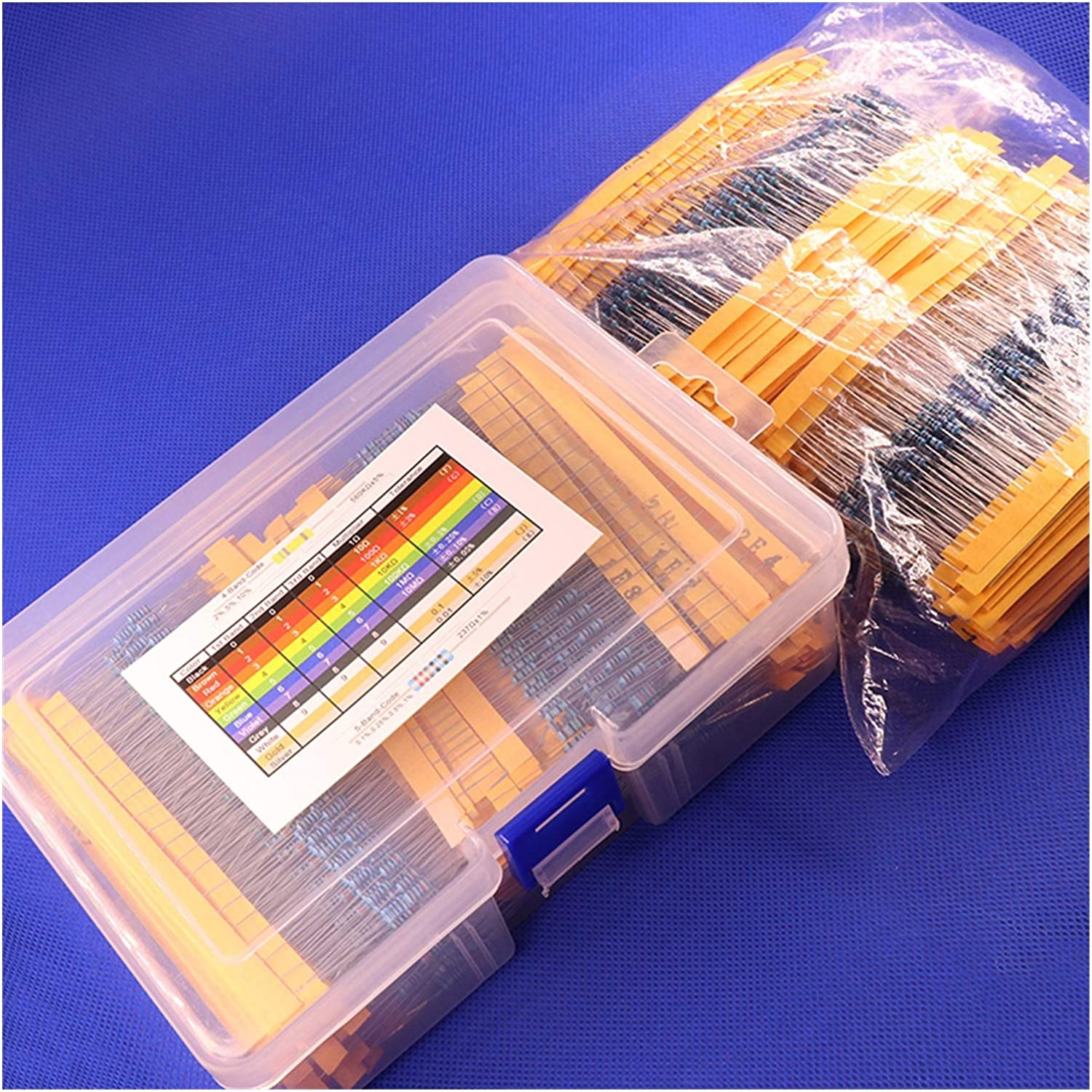 ZHENGLUSM Resistor 2600pcs Ranking integrated 1st place 130 Values Our shop OFFers the best service 1 Metal Film 4W 1% 0.25W R