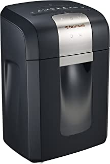 Bonsaii EverShred Pro 3S16 12-Sheet Heavy Duty Cross-Cut Paper/CD/Credit Card Shredder, 58 dB Low Operation Noise, Pullout...