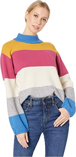 Color Block Sweater with Cocoon Sleeves