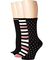 Kate Spade New York - Multi Stripe 3-Pack Trouser Socks