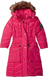 Girls' Little Fashion Outerwear Jacket (More Styles Available), Rose Red A A, 5/6