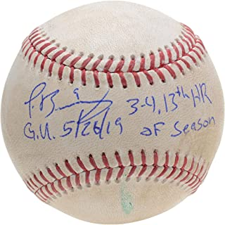 Javier Baez Chicago Cubs Autographed Game-Used Baseball vs. Cincinnati Reds on May 26, 2019 with Multiple Inscriptions - HR - Fanatics Authentic Certified