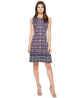 Jewel Box Scuba Fit & Flare Dress