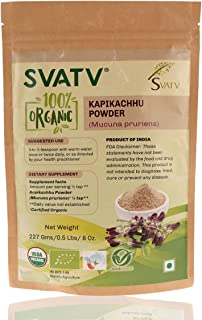 SVATV Organic Mucuna pruriens Powder II USDA Certified Organic II 8oz , 0.5lb , 227g