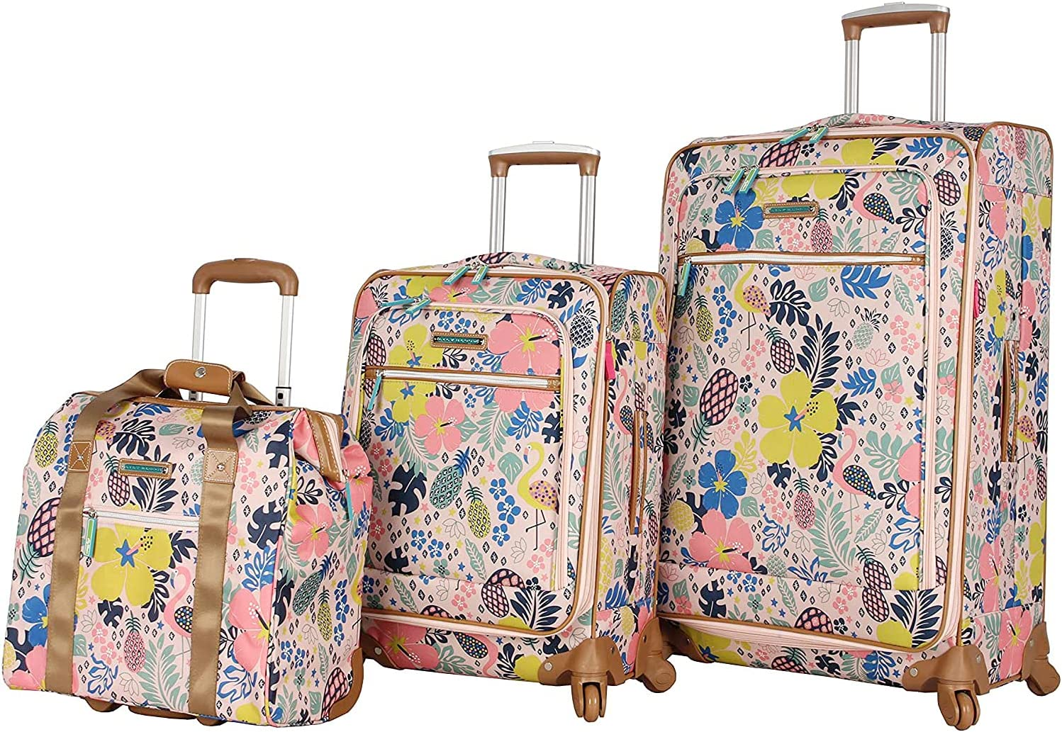 Lily OFFicial shop Max 55% OFF Bloom Luggage 3 Piece Softside Set Collect Spinner Suitcase