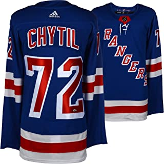 Sponsored Ad - Filip Chytil New York Rangers Autographed Blue Adidas Authentic Jersey - Autographed NHL Jerseys