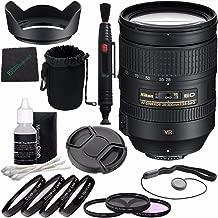 Nikon AF-S NIKKOR 28-300mm f/3.5-5.6G ED VR Lens + 77mm 3 Piece Filter Set (UV, CPL, FL) + 77mm +1 +2 +4 +10 Close-Up Macro Filter Set with Pouch + Lens Cap + Lens Hood + Lens Cleaning Pen Bundle