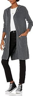 Amazon Brand - Goodthreads Women's Mid-Gauge Stretch Hooded No-Closure Sweater