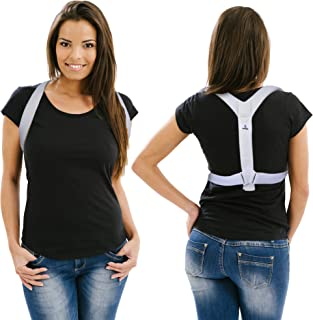 Posture Corrector Back Brace Support for Men and Women, Adjustable Shoulder Straightener for Clavicle and Spine Alignment to Reduce Chair Slouch and Kyphosis, Pain Relief in Neck, Upper (Extra Small)