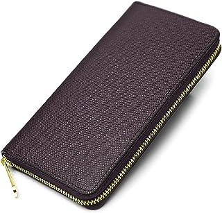 MUMUWU 長財布 メンズ ラウンドファスナー カード入れ×12 財布
