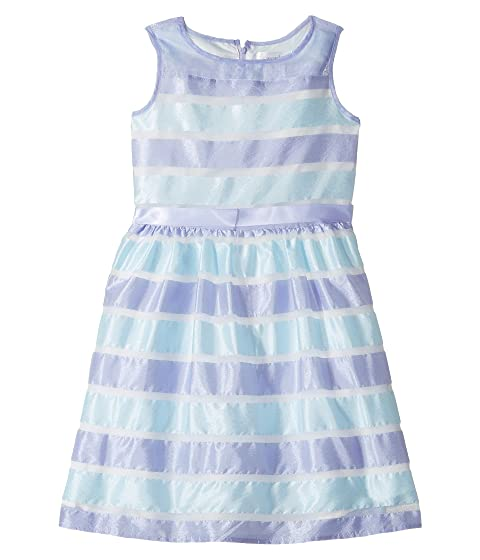 e13d8d9a08aeaa Us Angels Sleeveless Illusion Dress with Shirred Waist   Full Skirt (Big  Kids)