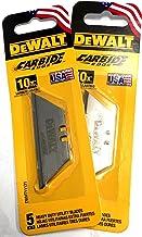 DeWalt Carbide Edge Utility Knife Blade – Last 10x Longer (10-Pack)