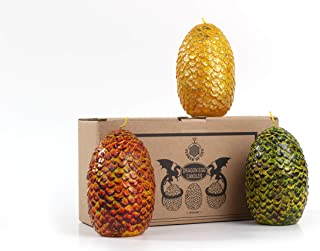 Game of Thrones Dragon Eggs Candles - Set of 3 - GOT Mother of Dragons Egg Decor Christmas Holidays Gifts for Women Gift for Her Mom