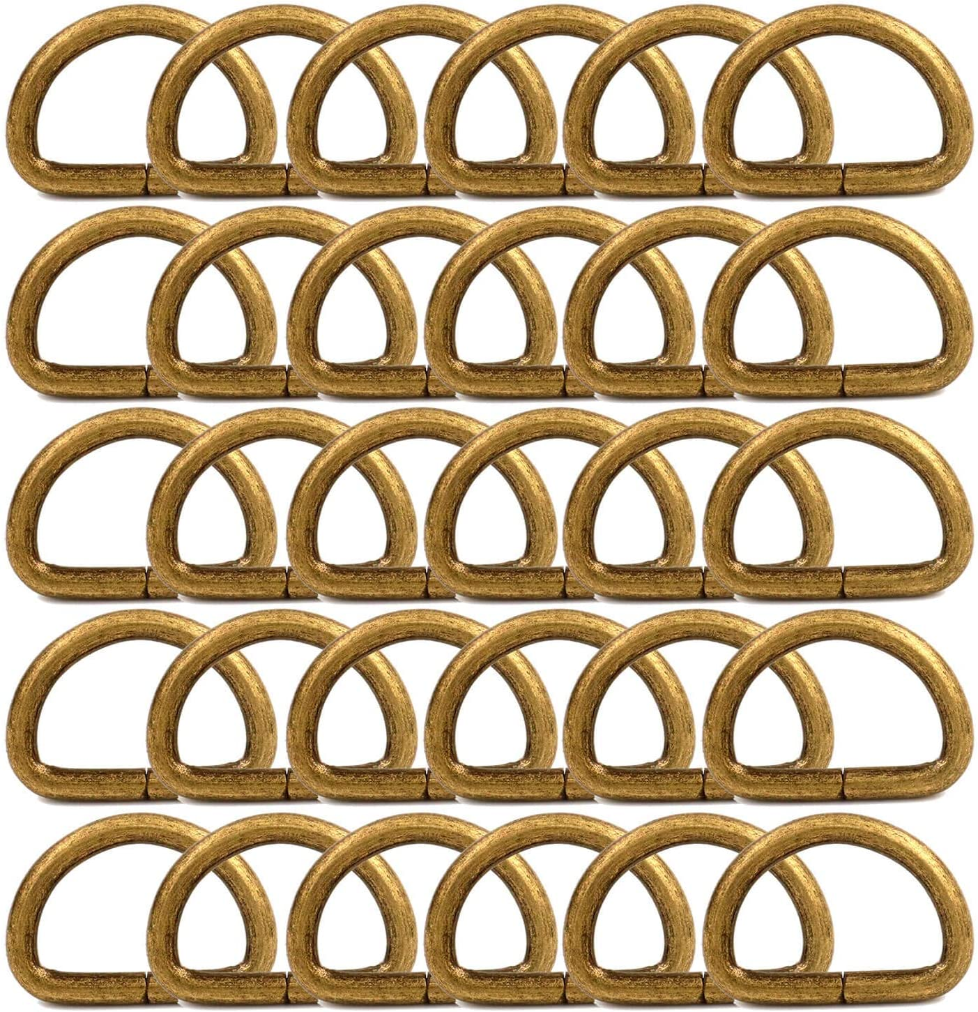 BIKICOCO Metal D-Rings Buckle 1 Quantity limited outlet for Sew inch Non-Welded Webbing