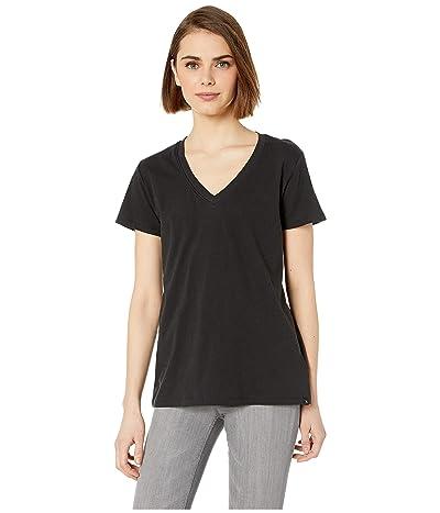 Hurley Solid Perfect V-Neck Tee Shirt (Black) Women